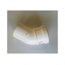 Intergas 80mm 45 Degree Elbow (Inc. Bracket) for Twin Flue System (0453990)