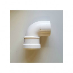 Intergas 80mm 90 Degree Elbow (Inc. Bracket) for Twin Flue System (0453992)