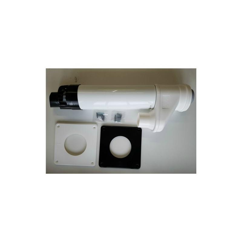Intergas Horizontal Flue Terminal 80/125 for Twin Flue System (076355)