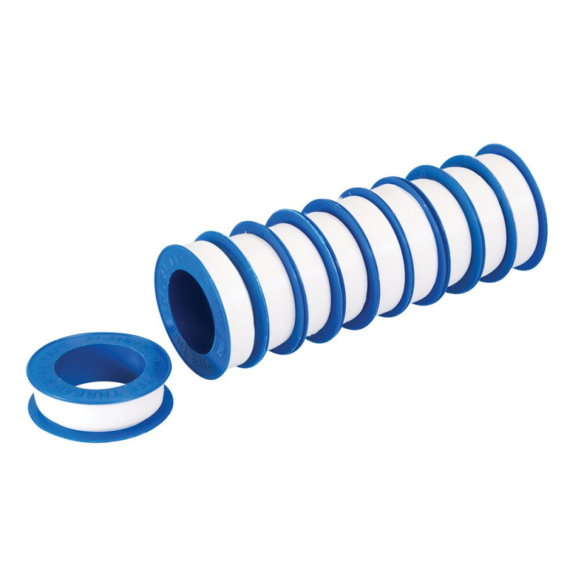 PTFE Thread Seal Tape (10 Pack 12mm x 12m WRAS Approved)