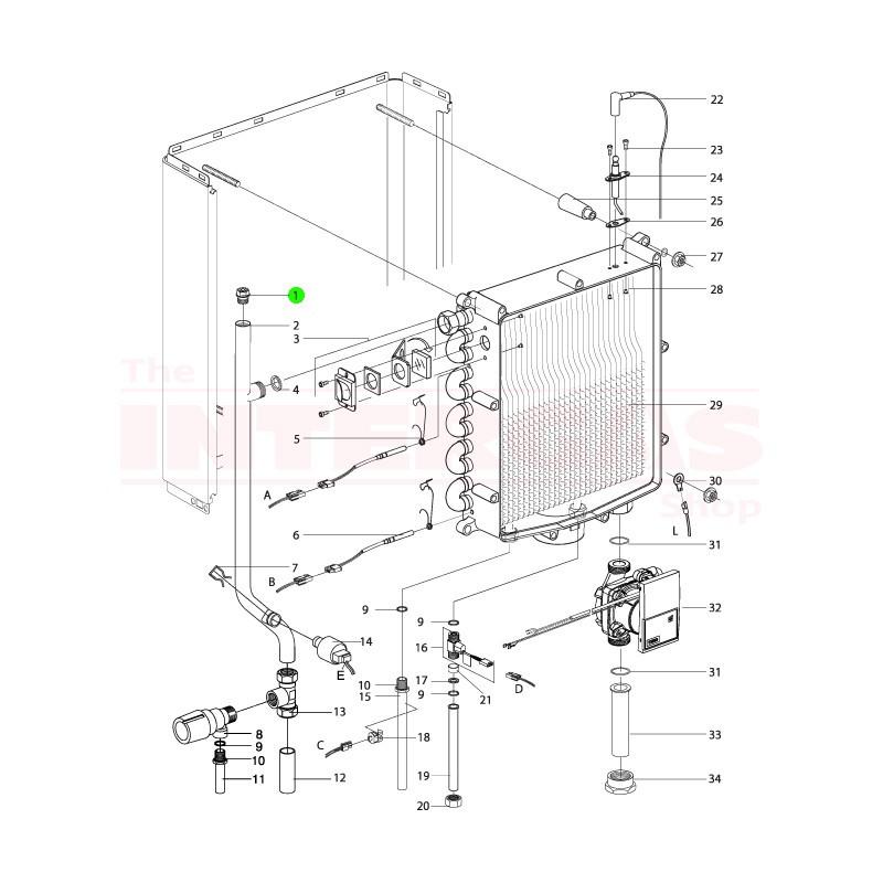 "Intergas Manual Air Release Valve 3/8"" (843017)"