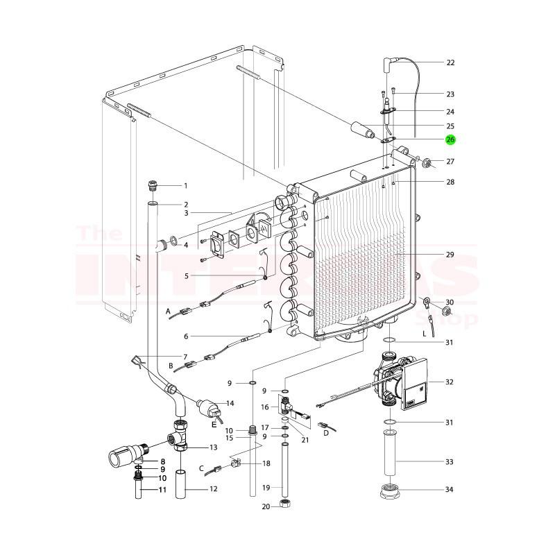 Intergas Ignition Pin Gasket (875677)