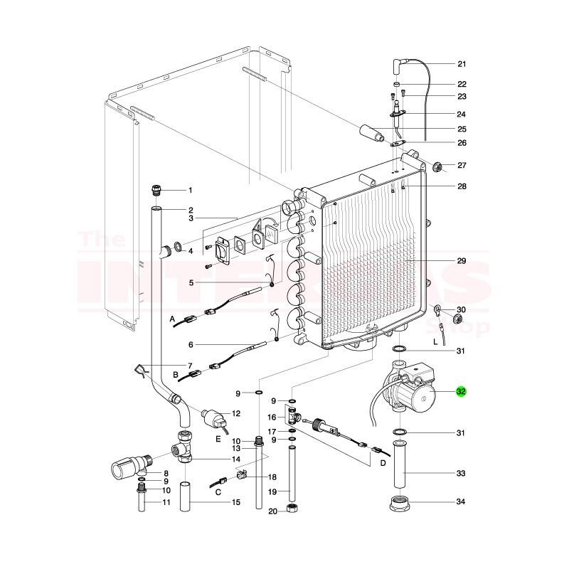Intergas Boiler Pump Wilo RS15/4.1 (210247)