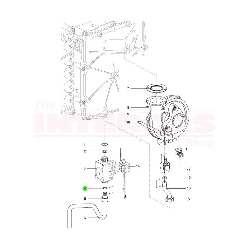 Intergas Gas Valve Bottom Seal 21.5mm x 15.5mm (875757)