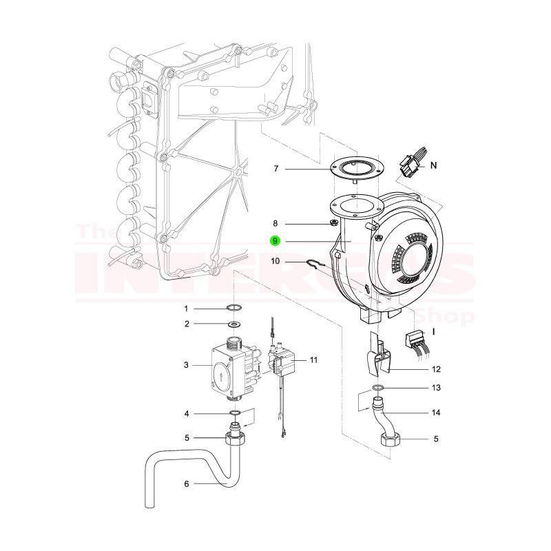 Intergas Fan Assembly 40kW 230v (074577)