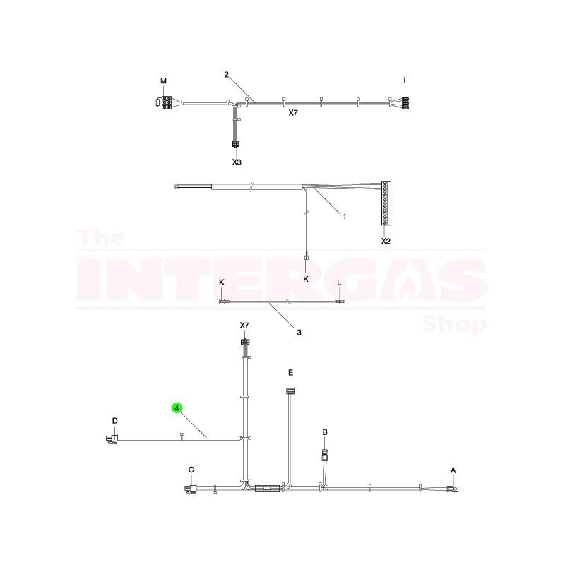 Intergas NTC Cable Pre-ErP Combi (221487)