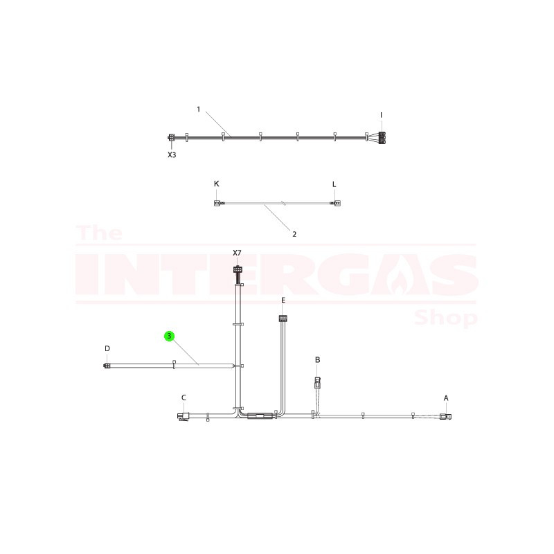 Intergas NTC Cable HRE/ECO Combi (221737)