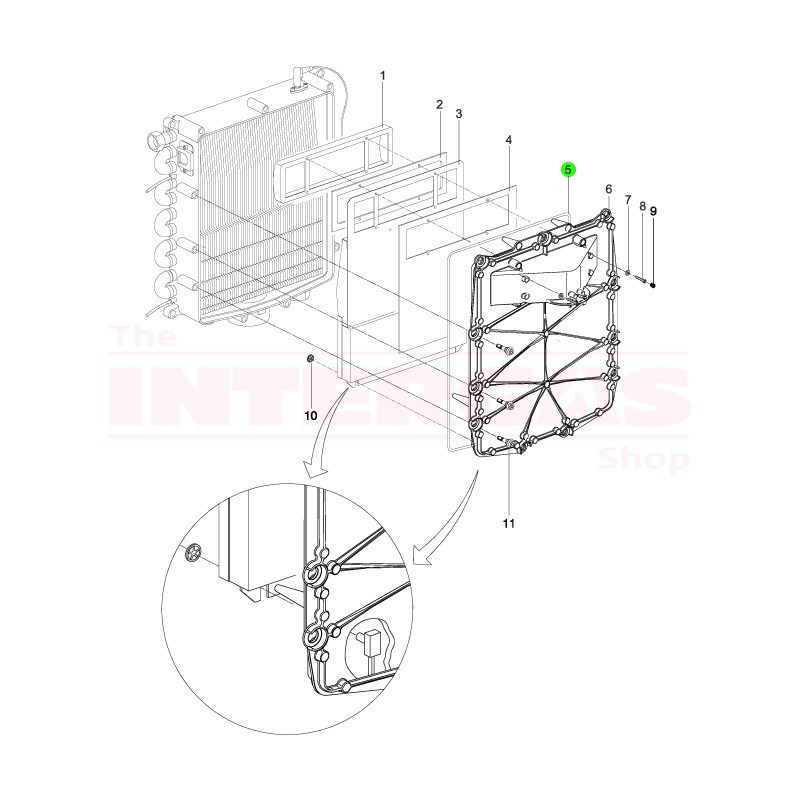 Intergas 24kW Front Plate Seal (086514)