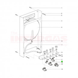 Intergas 15mm Hot Water Elbow (822217)