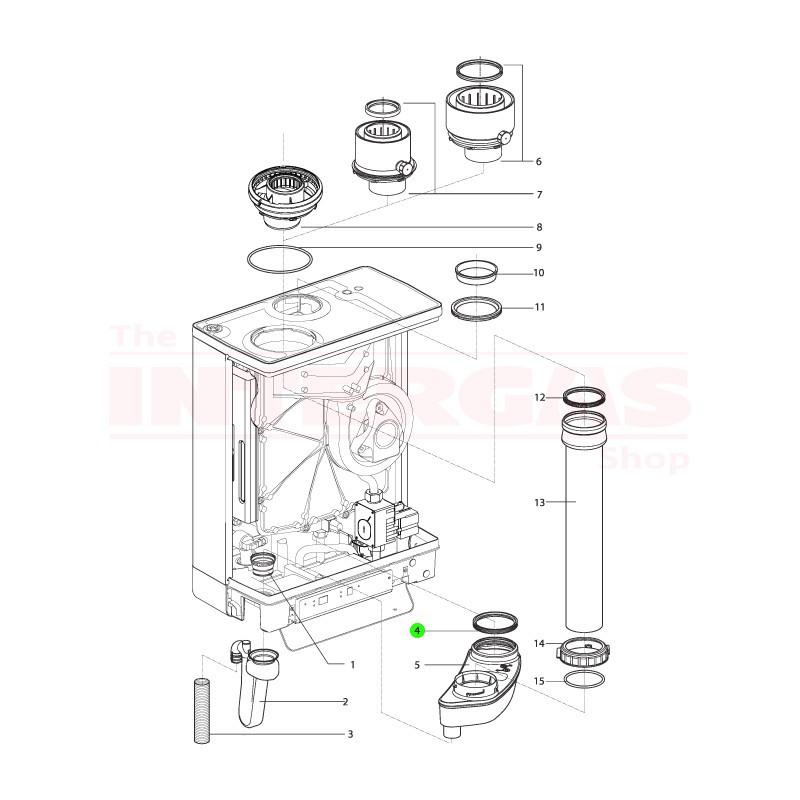 Intergas Condensate Collector Inner Seal 76mm Ø (878147)
