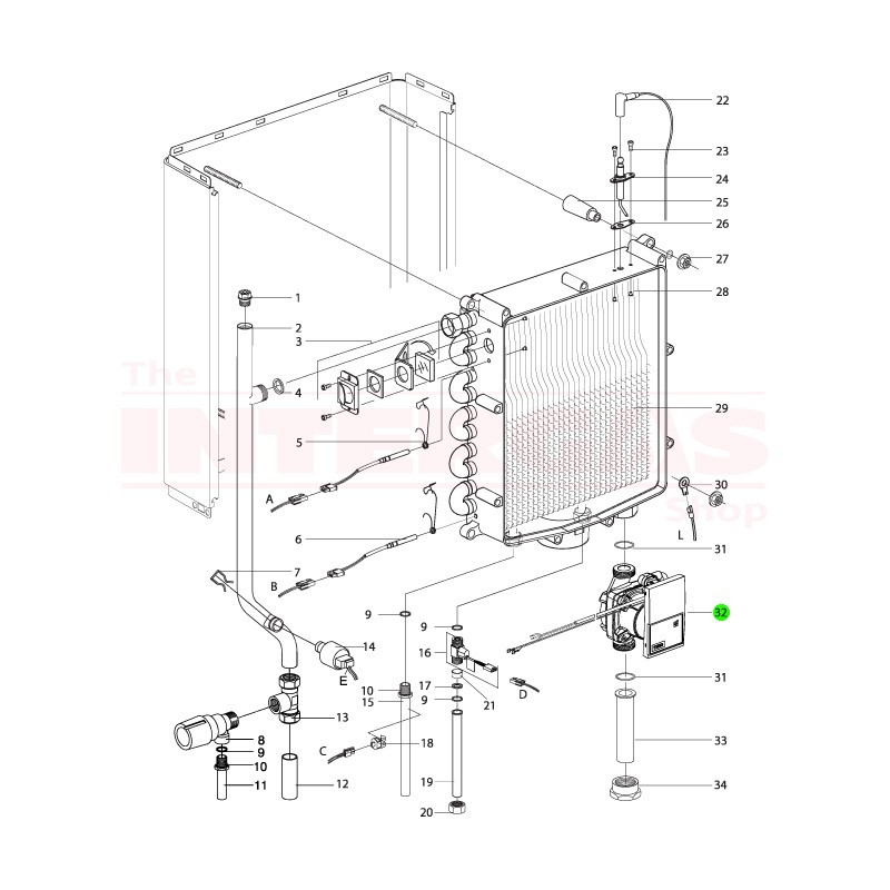 Intergas Boiler Pump Wilo Yonos PARA RS15/7.5 (210367)
