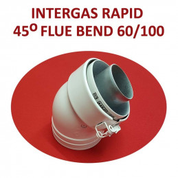 Intergas Rapid 45 Degree Flue Bend 60/100mm (087616)