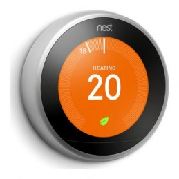 Nest Learning Thermostat | 3rd Generation | Stainless Steel | T3028GB | The INTERGAS Shop