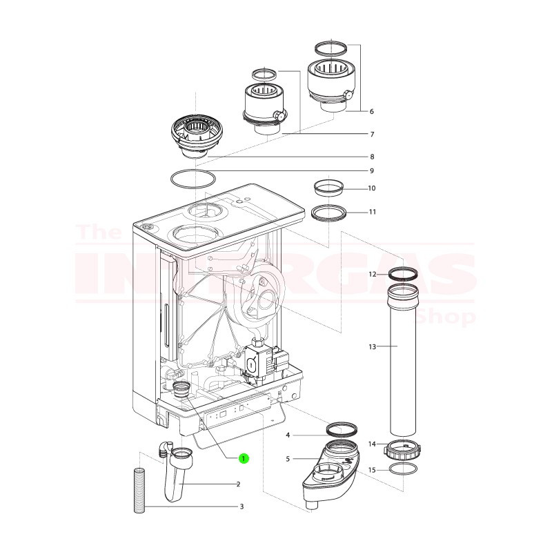 Intergas Condensate Trap Grommet (878577)