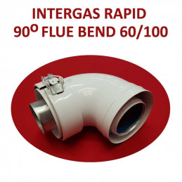 Intergas Rapid 90 Degree Flue Bend 60/100mm (087617)
