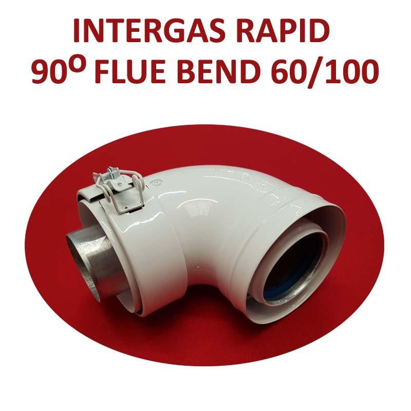 Intergas Rapid 90 Degree Flue Bend 60/100mm (087617)